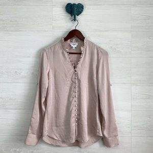 Express Portofino Slim Blush Pink Romantic Top